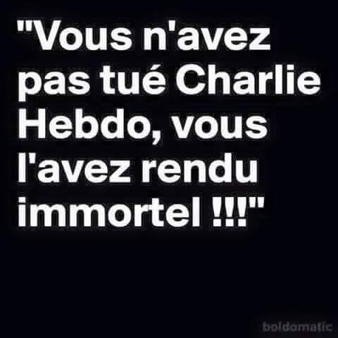 charlie hebdon immortel